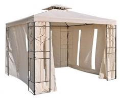 habeig Pavillon Seitenteile mit Fenster & Reißverschluß an jeder Seite Pavillion 4Stück (Beige #34)