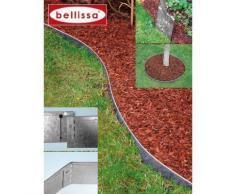 bellissa Rasenkante aus Metall - 99680 - Stahlblech feuerverzinkt, silberfarbig - 118 x 13 cm, Nutzlänge 1,15 m - Mit patentierter Verbindungstechnik