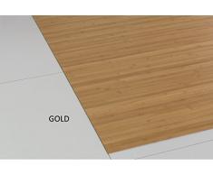 Bambusteppich Massive Gold, 70x120 cm, 17mm gehärtete Stege Generation Bambusteppich   kein Bordürenteppich   Teppich   Wohnzimmer   Küche DE-Commerce   Made IN Germany