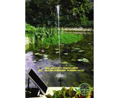 Poweraccu Solar-Springbrunnenpumpe mit Beleuchtung und Memory-Funktion !!!