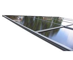 GRASEKAMP Qualität seit 1972 Ersatzdach Terrassendach Hardtop Anbau Pergola 3x3,6m Doppelstegplatten Polycarbonat Carport