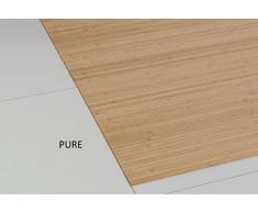 Bambusteppich MASSIVE pure, 200x250 cm, 17mm gehärtete Stege   die neue Generation Bambusteppich   kein Bordürenteppich   Teppich   Wohnzimmer   Küche   Markenprodukt von DE-COmmerce   MADE IN GERMANY