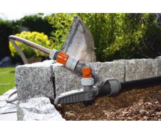 """GARDENA Pipeline / Sprinklersystem Wasserstecker: Oberirdische Wasserentnahmestelle für die Pipeline oder das Sprinklersystem, flexible Befestigung, Wasserstop, ¾""""Außengewinde (8254-20)"""