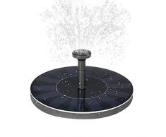 Anself Solar Teichpumpe mit Monokristalline Solar-Panel für Gartenteich oder Springbrunnen