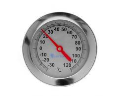 Lantelme Kompostthermometer Edelstahl -30 bis +120 Grad Sonde 50 cm Komposter Garten Kompost Thermometer analog 6115
