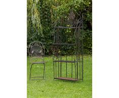 Gartenregal Regal Garten Eisen Möbel 175cm Eisenregal antik Stil braun 13kg