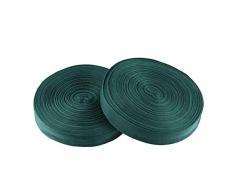 Healifty 2 Roll Stretch Tie Tape Rolle Garten Tie Tape Pflanze Band Garten Grün Gartengeräte für Indoor Outdoor Terrassenpflanze 2 5 Cm