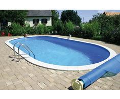 Summer Fun Ovalpool Einbau Komplettset 150 cm Tiefe (SW:0,8 IH:0,6) 700 x 350 x 150 cm