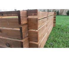 naturholz-shop Stabiler Holzkomposter Komposter Kompostbehälter imprägniert Hochbeet 170x85cm Riffel
