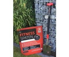 IDEAL Fitness Spaten, schwarz / rot, 117,5 x 18,5 x 7 cm, 24019000