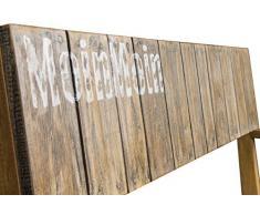 Trendy-Home24 Angebot 2er Bank MoinMoin rustikal Teakholz Teakbank Massivholz Holzbank Gartenbank 120 cm breit Sitzbank