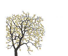 20 Servietten Fruit Tree - Obstbaum - Gold - von broste Copenhagen