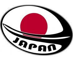 Aufkleber Wandaufkleber sport Fußball, rugby Flagge WM Schale, Japanischer Fächerahorn