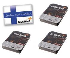 3x Mustang Einweggrill Mini BBQ Grill 22x27x5cm