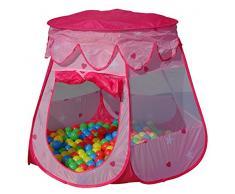 Kinderzelt + 100 Stück Bälle Bällebad Ball Plastikbälle Spielzelt Spielbälle