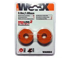 Worx Ersatz-Fadenspule für Rasentrimmer, orange, 6.5 x 6.5 x 2.2 cm, WA0004.1