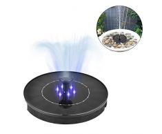 2,4W Solar Brunnenpumpe Mini Wasserdichter Haltbarer LED- Sonnenkollektor Mit Tauchpumpe Für Vogelbade Gartenbrunnen