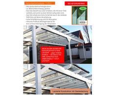 solidBASIC mit VSG GLAS 600 x 350 cm - Terrassenüberdachung Leimholz + Glasdach Verbundsicherheitsglas - Unbehandelt / NATUR - ÜBERDACHUNG TERRASSENDACH HOLZ VORDACH CARPORT TERRASSE WINTERGARTEN LEIMBINDER GARTENLAUBE PAVILLON 6 x 3,5 m