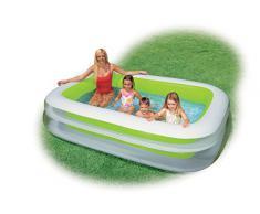 Intex Swim Center Family Pool - Kinder Aufstellpool - Planschbecken - 262 x 175 x 56 cm - Für 6+ Jahre