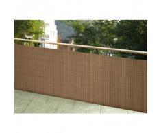 Wetterfester Balkonsichtschutz Holz Optik VOLLKUNSTSTOFF 90x300 Sichtschutzmatte Balkonverkleidung