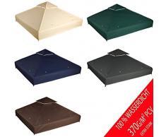 freigarten.de Ersatzdach für Pavillon 3x3 Meter Wasserdicht Material: Panama PCV Soft 370g/m² extra stark Modell 1 (Marineblau)