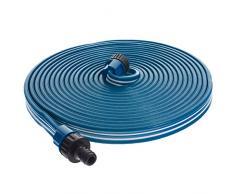 Smartfox Sprühschlauch Sprinkler Gartenschlauch Wasserschlauch mit 30 m ausgedehnt mit 1/2 Zoll Anschluss in Blau