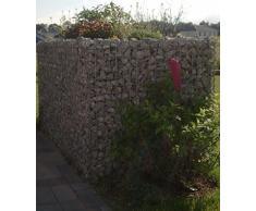 HOCHBEET Steinkorb-Gabione eckig, Maschenweite 5 x 10 cm, Länge 130 cm, Wandstärke 15 cm, Spiralverschluss, galvanisch verzinkt (130 x 50 x 80 cm)