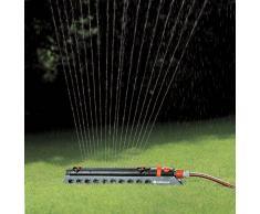 GARDENA Viereckregner Comfort Aquazoom 350/3: Rasensprinkler zur Bewässerung mittelgroßer Rechtecksflächen von 28 - 350 m², Reichweite 7-21 m, Sprengweite max. 17 m, Schmutzsieb entnehmbar (1977-20)
