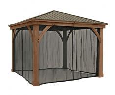 Westmann Moskitonetz PVC-beschichtetes Polyester Mesh schwarz geeignet für Holzpavillon Devon 12x12