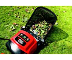 Black+Decker 600W Elektro-Rasenlüfter, zur ganzjährigen Rasenpflege, 30cm Arbeitsbreite, 3 Arbeitshöhen, GD300, schwarz orange