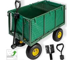Kesser® Bollerwagen 550kg belastbar Gartenwagen Transportwagen Gartenkarre herausnehmbare Plane Gerätewagen Handwagen vielseitig einsetzbar