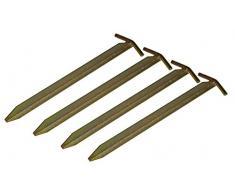 4 St.Campiro® T-Profil Eisen Heringe 30cm Pavillon Zelt Vorzelt Erdnägel Camping