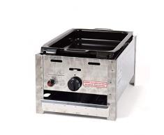 LAG Gasbräter 3,65 kW mit emaill.Stahlpfanne 1-flammig Gasgrill Grill Gastrobräter Profigrill Verein