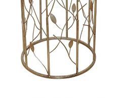 Blumensäule in Gold Glas Italienisches Design Pharao24