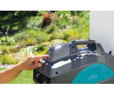 GARDENA Wand-Schlauchbox 35 roll-up automatic Li: Automatische Schlauchtrommel zur Wandmontage, Einzug über Akku per Tastendruck, 180 Grad schwenkbar, Schlauchlänge 35 m (8025-20)