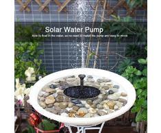Zerodis Solar Springbrunnen Solarbetriebene Solar Panel Teichpumpe Schwimmend 1.6W für Fontäne Gartenteich Springbrunnen Vogelbad Aquarium