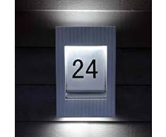 Hausnummernleuchte ROM   2x9 Watt G23   Aluguß   Anthrazit   2-flammig   IP54   inkl. Leuchtmittel