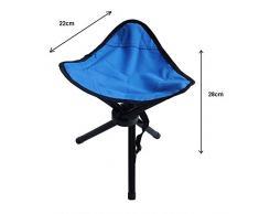 zanasta Dreibein-Hocker Camping Stuhl 28cm Sitzhöhe, Sitzhocker faltbar für Freizeit, Garten, beim Camping, Angeln und mehr, handliche 280g leicht, Blau