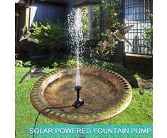 Gemini_mall® Solar-Springbrunnenpumpe, solarbetrieben, schwimmender Brunnen Bewässerung, Tauchpumpe, Set für kleine Teiche, Pool, Garten, Terrasse, Dekoration Solarbrunnen