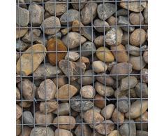 Steinkorb-Gabione eckig, Maschenweite 5 x 10 cm, Tiefe 20 cm, Spiralverschluss, galvanisch verzinkt (100 x 30 x 20 cm)