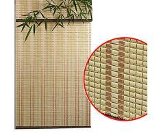 Bambusvorhang Top / Exterieur Roll Shades Blinds, Blackout Sonnenschutz Deck Pavillon Patio im Freien Sonnenschirm, 85cm / 105cm / 125cm / 135cm Breit Jalousie ( Color : W×H , Size : 105×140cm )