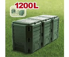 Garten Komposter 1200L Grün Modul Thermokomposter Kompostbehälter Kunststoff