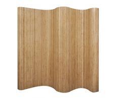 vidaXL 241668 Paravent Bambus Natur Raumteiler Trennwand Sichtschutz Spanische Wand, One Size