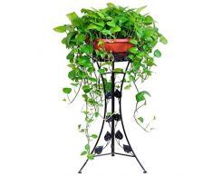 LXHJZ Zuhause Garten Eisen Kunst Blumentopf Steht - Elegantes Design-Bodenregal - Indoor-Outdoor-Garten Terrassenpflanze Bonsai Dekorative Display Flower Rack (1-Pack)