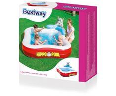 Bestway Planschbecken Hippo Spray Pool, 201x201x91 cm