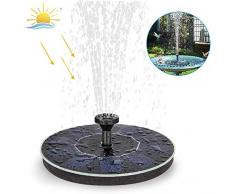 Coquimbo Solar Springbrunnen, Solar Teichpumpe Garten Wasserpumpe mit Lagerung-Batterie, 2W Monokristalline Solar Panel, Schwimmender Dekoration für Kleiner Teich, Garten, Vogelbad, Fisch-Behälter