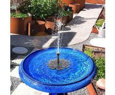 Solarbetriebener Springbrunnen Solar Pond Pump Panel Wasser Schwimmender Springbrunnen Brushless Water Pump Kit für Bird Bath Pond Garden Fountain