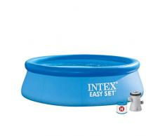 Intex Easy Set Pool - Aufstellpool - mit Filter, 244cm x 244cm x 76cm