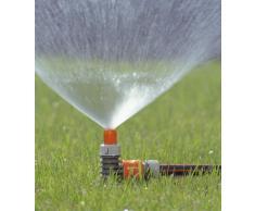 Gardena Classic Sprühregner-Aktion, Kreisregner auf Spike montiert, feiner Sprühnebel zur schonenden Bewässerung, einfach und fest im Boden fixierbar, für Anschluss an Gartenschlauch, 969-20