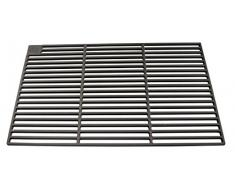 AKTIONA Gusseisen runde + eckige Grillroste viele Größen + Griffe Grillclub® Grill für Weber Gasgrill Holzkohle (50 x 35)